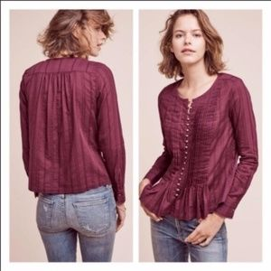 Anthropologie Maeve Pleated Blouse | Size: S